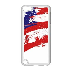 Red White Blue Star Flag Apple Ipod Touch 5 Case (white) by Mariart