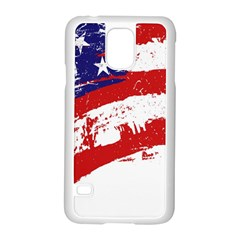 Red White Blue Star Flag Samsung Galaxy S5 Case (white) by Mariart
