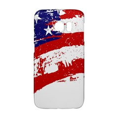 Red White Blue Star Flag Galaxy S6 Edge by Mariart