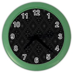 Star Black Color Wall Clocks by Mariart