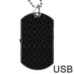 Star Black Dog Tag Usb Flash (two Sides) by Mariart
