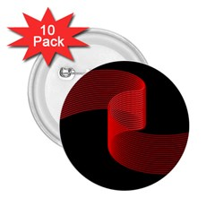 Tape Strip Red Black Amoled Wave Waves Chevron 2 25  Buttons (10 Pack)
