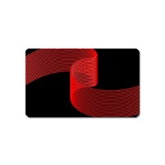 Tape Strip Red Black Amoled Wave Waves Chevron Magnet (name Card) by Mariart