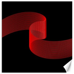 Tape Strip Red Black Amoled Wave Waves Chevron Canvas 12  X 12   by Mariart