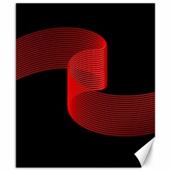 Tape Strip Red Black Amoled Wave Waves Chevron Canvas 20  X 24   by Mariart