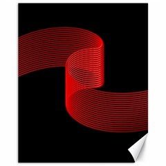 Tape Strip Red Black Amoled Wave Waves Chevron Canvas 11  X 14   by Mariart