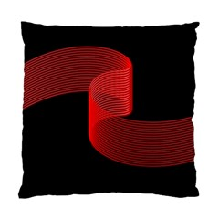 Tape Strip Red Black Amoled Wave Waves Chevron Standard Cushion Case (two Sides) by Mariart