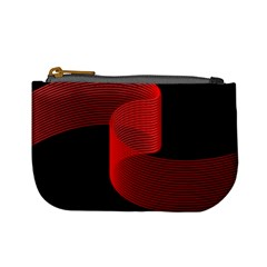 Tape Strip Red Black Amoled Wave Waves Chevron Mini Coin Purses by Mariart