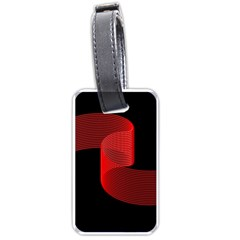 Tape Strip Red Black Amoled Wave Waves Chevron Luggage Tags (one Side)  by Mariart