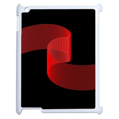 Tape Strip Red Black Amoled Wave Waves Chevron Apple Ipad 2 Case (white) by Mariart