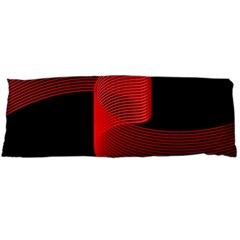 Tape Strip Red Black Amoled Wave Waves Chevron Body Pillow Case Dakimakura (two Sides) by Mariart