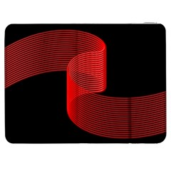 Tape Strip Red Black Amoled Wave Waves Chevron Samsung Galaxy Tab 7  P1000 Flip Case by Mariart