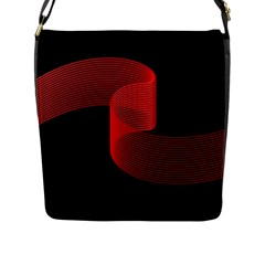 Tape Strip Red Black Amoled Wave Waves Chevron Flap Messenger Bag (l)  by Mariart
