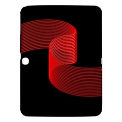 Tape Strip Red Black Amoled Wave Waves Chevron Samsung Galaxy Tab 3 (10 1 ) P5200 Hardshell Case  by Mariart