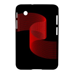 Tape Strip Red Black Amoled Wave Waves Chevron Samsung Galaxy Tab 2 (7 ) P3100 Hardshell Case  by Mariart