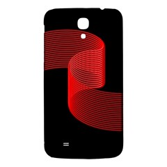 Tape Strip Red Black Amoled Wave Waves Chevron Samsung Galaxy Mega I9200 Hardshell Back Case by Mariart
