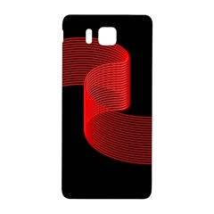 Tape Strip Red Black Amoled Wave Waves Chevron Samsung Galaxy Alpha Hardshell Back Case by Mariart