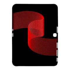 Tape Strip Red Black Amoled Wave Waves Chevron Samsung Galaxy Tab 4 (10 1 ) Hardshell Case  by Mariart