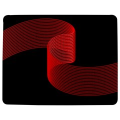 Tape Strip Red Black Amoled Wave Waves Chevron Jigsaw Puzzle Photo Stand (rectangular) by Mariart