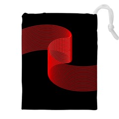 Tape Strip Red Black Amoled Wave Waves Chevron Drawstring Pouches (xxl) by Mariart
