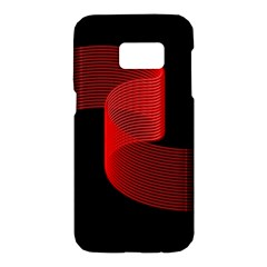 Tape Strip Red Black Amoled Wave Waves Chevron Samsung Galaxy S7 Hardshell Case  by Mariart