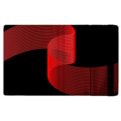 Tape Strip Red Black Amoled Wave Waves Chevron Apple Ipad Pro 9 7   Flip Case by Mariart
