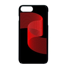 Tape Strip Red Black Amoled Wave Waves Chevron Apple Iphone 7 Plus Seamless Case (black) by Mariart