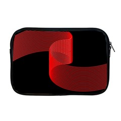 Tape Strip Red Black Amoled Wave Waves Chevron Apple Macbook Pro 17  Zipper Case by Mariart