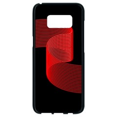 Tape Strip Red Black Amoled Wave Waves Chevron Samsung Galaxy S8 Black Seamless Case by Mariart