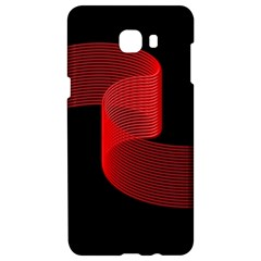 Tape Strip Red Black Amoled Wave Waves Chevron Samsung C9 Pro Hardshell Case  by Mariart