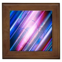 Widescreen Polka Star Space Polkadot Line Light Chevron Waves Circle Framed Tiles by Mariart