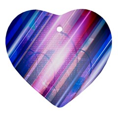 Widescreen Polka Star Space Polkadot Line Light Chevron Waves Circle Ornament (heart) by Mariart