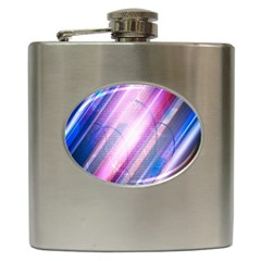 Widescreen Polka Star Space Polkadot Line Light Chevron Waves Circle Hip Flask (6 Oz) by Mariart