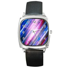 Widescreen Polka Star Space Polkadot Line Light Chevron Waves Circle Square Metal Watch by Mariart