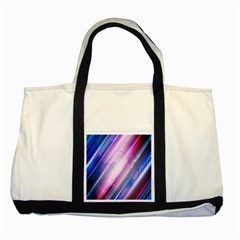 Widescreen Polka Star Space Polkadot Line Light Chevron Waves Circle Two Tone Tote Bag by Mariart