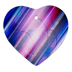 Widescreen Polka Star Space Polkadot Line Light Chevron Waves Circle Heart Ornament (two Sides) by Mariart