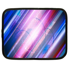 Widescreen Polka Star Space Polkadot Line Light Chevron Waves Circle Netbook Case (xl)  by Mariart