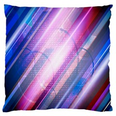 Widescreen Polka Star Space Polkadot Line Light Chevron Waves Circle Large Cushion Case (one Side) by Mariart