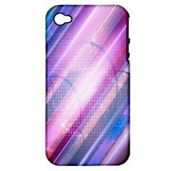 Widescreen Polka Star Space Polkadot Line Light Chevron Waves Circle Apple Iphone 4/4s Hardshell Case (pc+silicone) by Mariart
