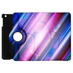 Widescreen Polka Star Space Polkadot Line Light Chevron Waves Circle Apple Ipad Mini Flip 360 Case by Mariart