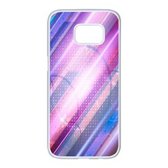 Widescreen Polka Star Space Polkadot Line Light Chevron Waves Circle Samsung Galaxy S7 Edge White Seamless Case by Mariart