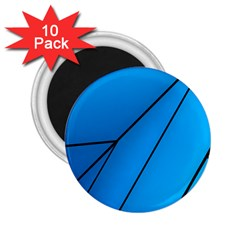 Technical Line Blue Black 2 25  Magnets (10 Pack)  by Mariart