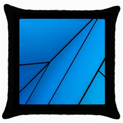 Technical Line Blue Black Throw Pillow Case (black) by Mariart