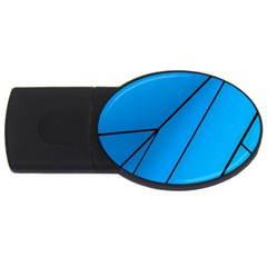 Technical Line Blue Black Usb Flash Drive Oval (2 Gb) by Mariart