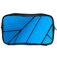 Technical Line Blue Black Toiletries Bags by Mariart