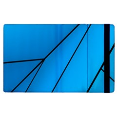 Technical Line Blue Black Apple Ipad 2 Flip Case by Mariart