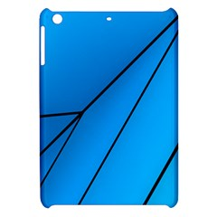 Technical Line Blue Black Apple Ipad Mini Hardshell Case by Mariart