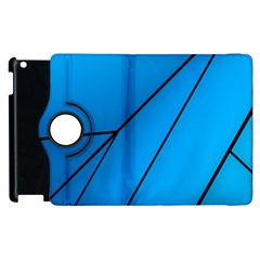 Technical Line Blue Black Apple Ipad 3/4 Flip 360 Case by Mariart
