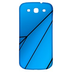 Technical Line Blue Black Samsung Galaxy S3 S Iii Classic Hardshell Back Case by Mariart