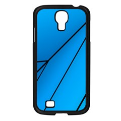 Technical Line Blue Black Samsung Galaxy S4 I9500/ I9505 Case (black) by Mariart